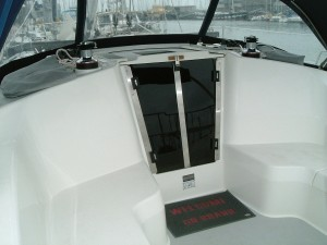 Companionway Doors 1/2 Acrylic with stainless trim kit