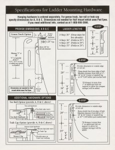 Ladder Specifications from Cruising Concepts