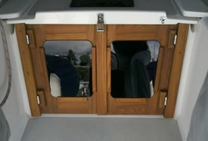 Catalina 400 Companionway Doors by Cruising Concepts