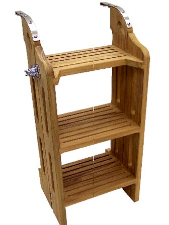 3-step-2 Teak boat Ladder by Cruising Concepts