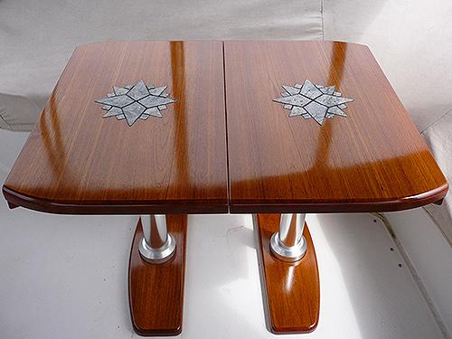 Teak Wood Cockpit Table Transom Mount