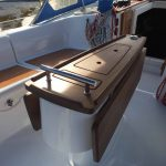 Our design work blends our tables seamlessly with the boat, providing numerous additional functions.