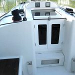 Starboard plastic companionway doors and hatch