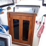 Teak companionway doors and frame for sailboat