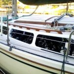 Catalina sailboat with retrofit windows