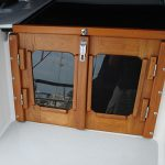 Catalina sailboat teak companionway doors