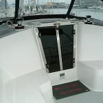 Acrylic companionway doors with stainless steel frames