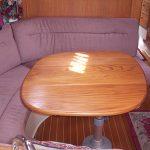 Teak sailboat dining table