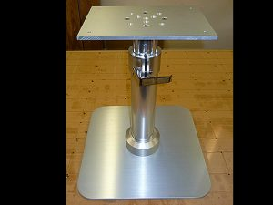 Yacht table pneumatic pedestal